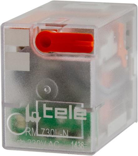DC electromechanical relay / AC / 4 NO/NC / plug-in