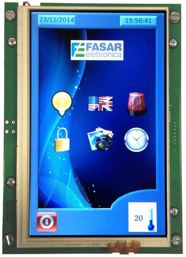 LCD/TFT display modules / resistive touch screen / 800 x 400 FE1000 Fasar Elettronica S.r.l.