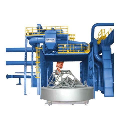 Rotating table shot blasting machine / for bulk materials Q36, Q76 Series Shandong Kaitai Group