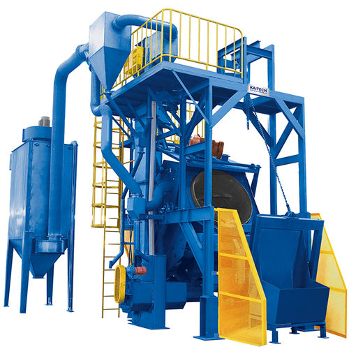 Rotary drum shot blasting machine / for bulk materials / compact QGT15 Series Shandong Kaitai Group