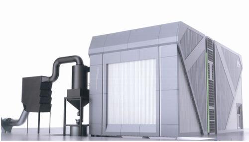 pressure blast cabinet / automatic