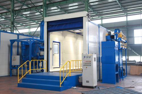 pressure abrasive blasting room / automatic