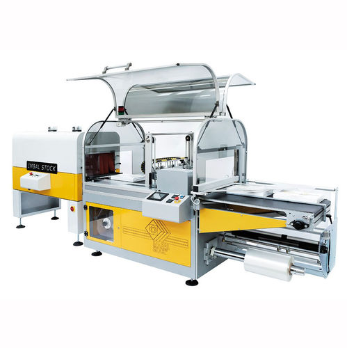 shrink packer side-sealer / automatic / servo-driven / for food