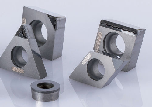 finishing cutting insert / PCD / polycrystalline / square