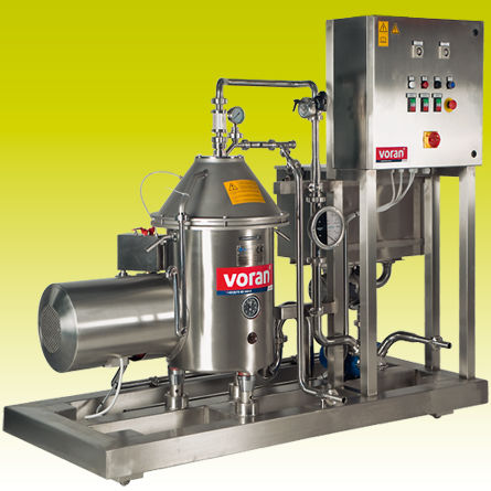 2-phase separator / centrifugal / liquid / for production lines