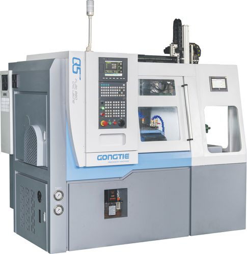 2-axis automatic lathe Q5 pneumatic auto-loader Ningbo GongTie Precision Machinery Co.,LTD