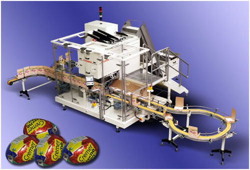 Chocolate product counting machine and cartoner max. 30 p/min Cremer speciaalmachines BV