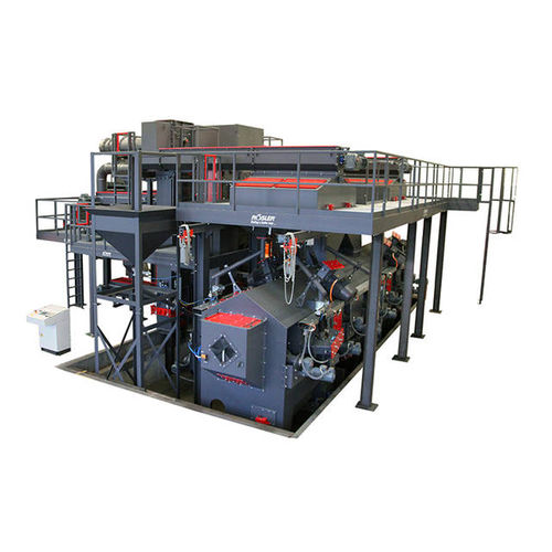 manual shot blasting machine / for metal / for tubes / continuous
