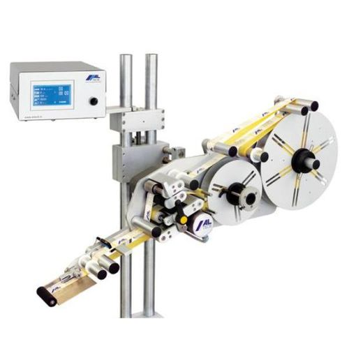 automatic label applicator / for self-adhesive labels / high-speed / top