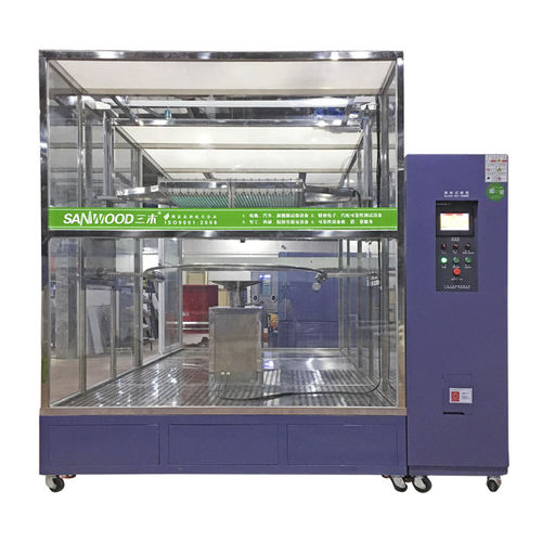 water spray test chamber / with window / for materials testing machines