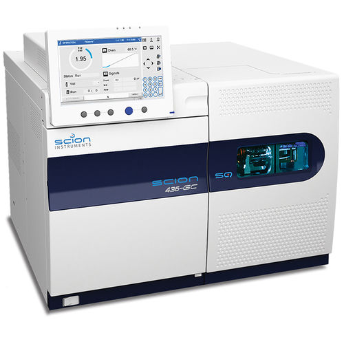 gas chromatograph / coupled to a mass spectrometer / laboratory / chemical