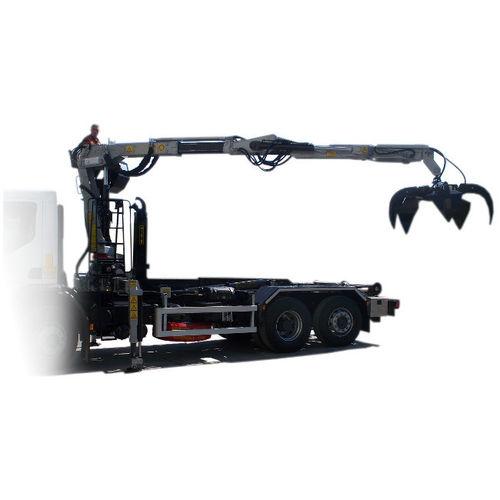 truck-mounted crane / folding / hydraulic