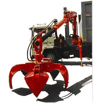 truck-mounted crane / telescopic / hydraulic