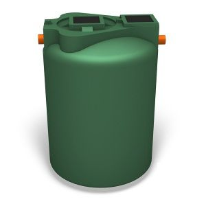 wastewater treatment tank / low-density polyethylene (LDPE) / cylindrical / vertical