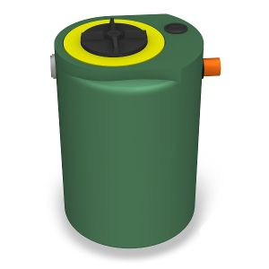 tank with filter / for wastewater / plastic / cylindrical