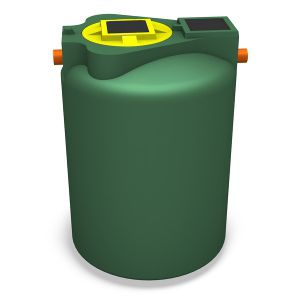 wastewater tank / polyethylene / cylindrical / for wastewater treatment
