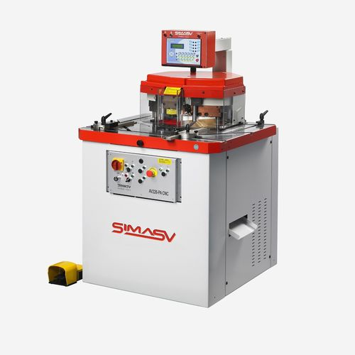 Variable-angle notching machine / hydraulic / CNC / shearing AV226/PA-CNC SIMASV