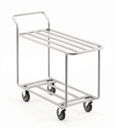 Service cart / steel / wire mesh platform / shelf 457 x 1 114 x 962 mm | T.20.413.T  CARI-ALL