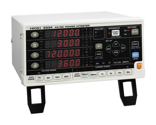 Power meter / single-phase / benchtop 1.5 W - 9 kW | 3334, 3334-01 HIOKI E.E. CORPORATION