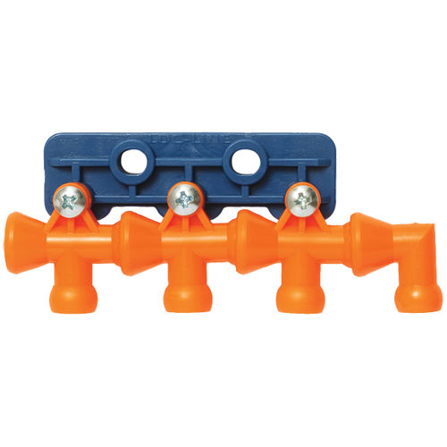 multi-channel manifold / plastic / for food products