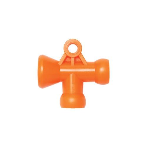 socket fitting / T / hydraulic / copolymer