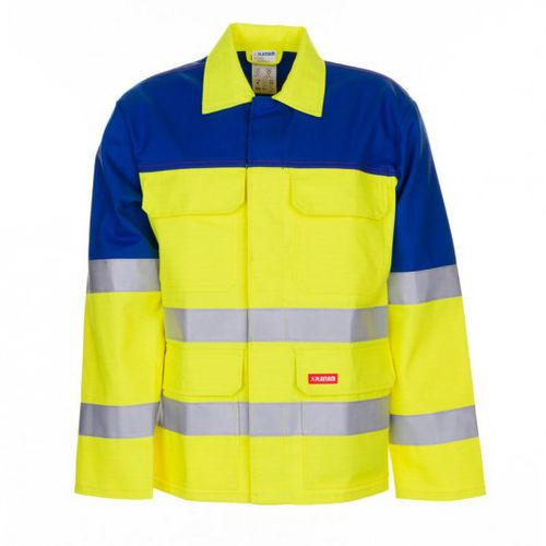 high-visibility jacket / work / chemical protection / fire-retardant