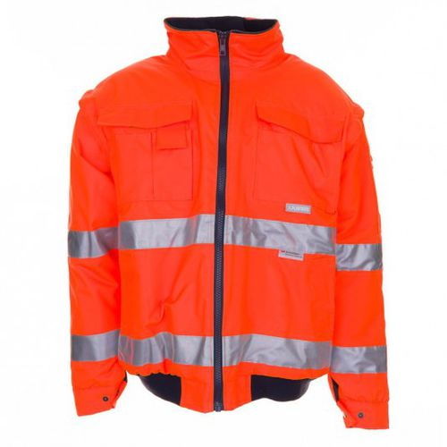 high-visibility jacket / work / cold weather / polyester