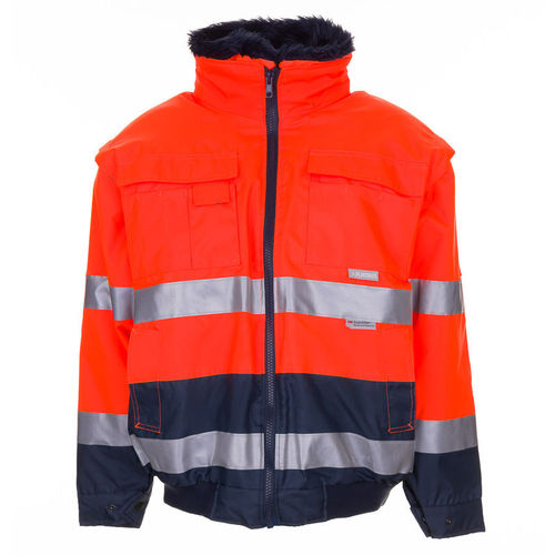 high-visibility jacket / work / waterproof / cold weather
