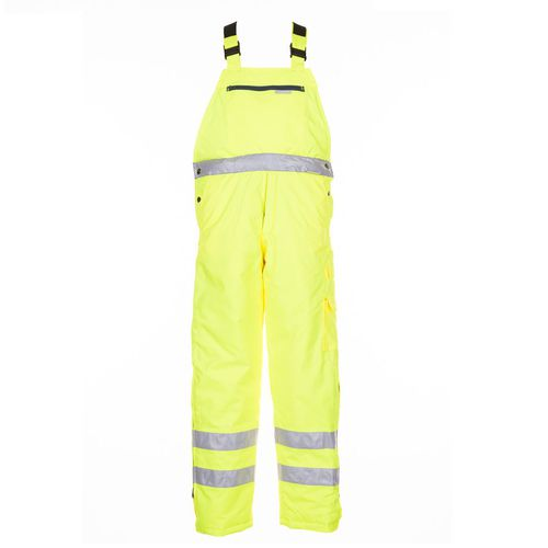 work brace overall / high-visibility / waterproof / polyester