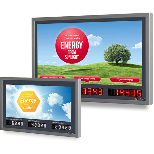 LED display / numeric / fluorescent / 6-digit