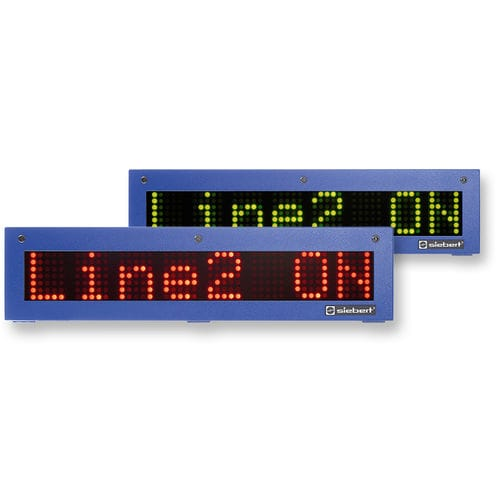 LED displays / alphanumeric / dot-matrix / numeric SX302 series Siebert Industrieelektronik GmbH