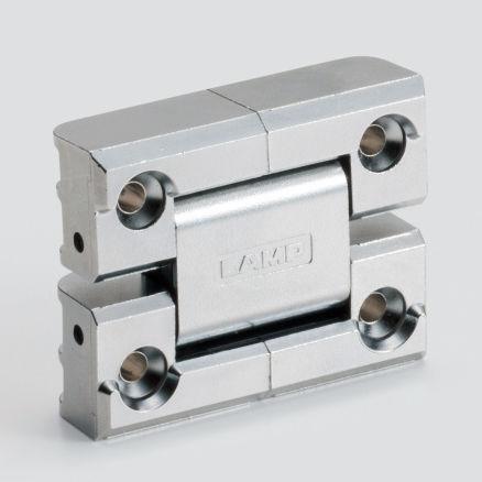plastic hinge / corner / screw-in / 180°