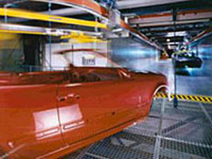 driven roller conveyor / for the automotive industry / monorail