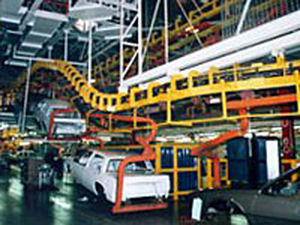 chain conveyor / for the automotive industry / power and free