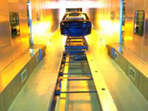 roller conveyor / for the automotive industry / transfer / distribution