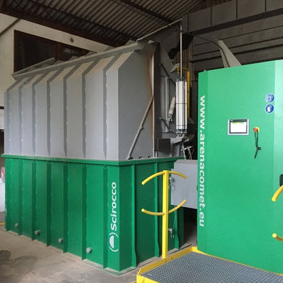 thermal cleaning machine / fast / fluidized bed