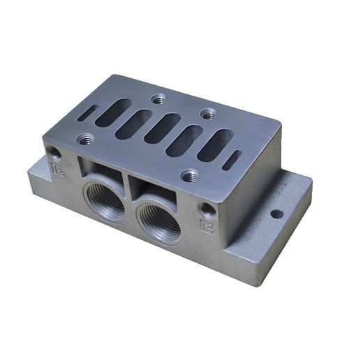 1-channel manifold / aluminum / for gas / for compressed air