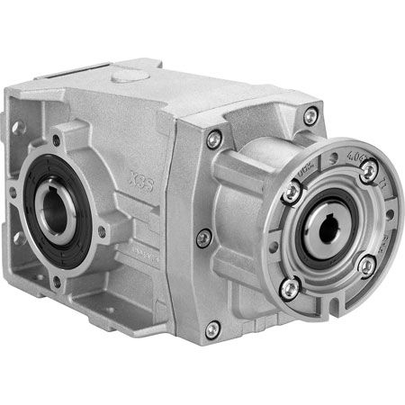helical gearbox / perpendicular / high-efficiency / compact