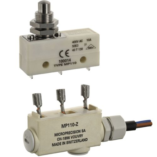 Lever micro-switch / single-pole / PBT / electromechanical MP110 series Microprecision Electronics
