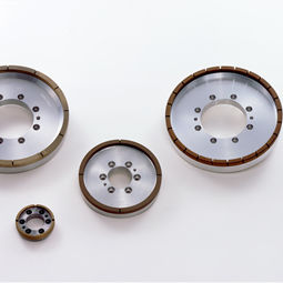 surface treatment wheel / peripheral / diamond / metal