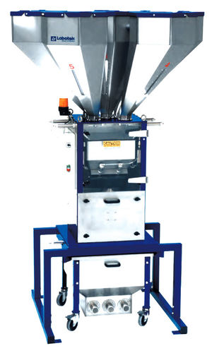 Granulates batch blender / gravimetric / for the plastics industry max. 2 000 kg/h | GM10 Labotek