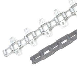 power transmission chain / chromed metal / roller / agricultural