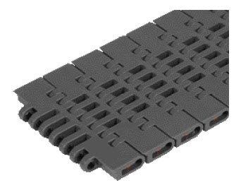 modular conveyor belt / flush grid / plastic