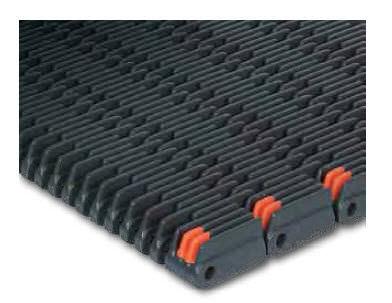 raised-rib conveyor belt / modular / polypropylene / high-resistance