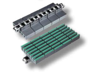 plastic conveyor chain / accumulation