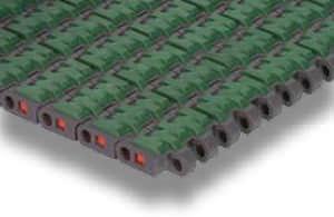 modular conveyor belt / thermoplastic / high-resistance / for heavy loads