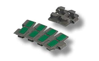 rubber conveyor chain / accumulation