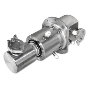 water rotary union / for gas / 3-passage / high-pressure