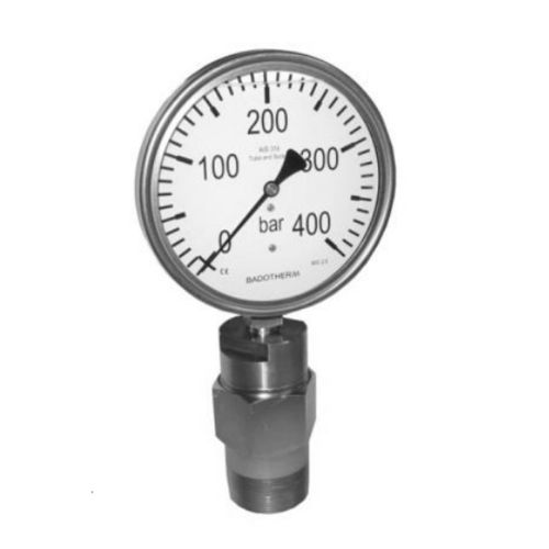 dial pressure gauge / Bourdon tube / for oil / process