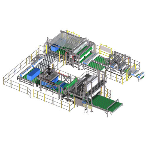 automatic packaging machine / film / horizontal / for the textile industry